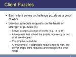 client puzzles
