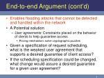 end to end argument cont d