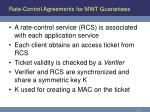 rate control agreements for mwt guarantees