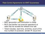 rate control agreements for mwt guarantees17