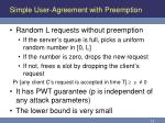simple user agreement with preemption