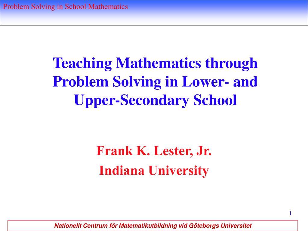 Teaching Mathematics through