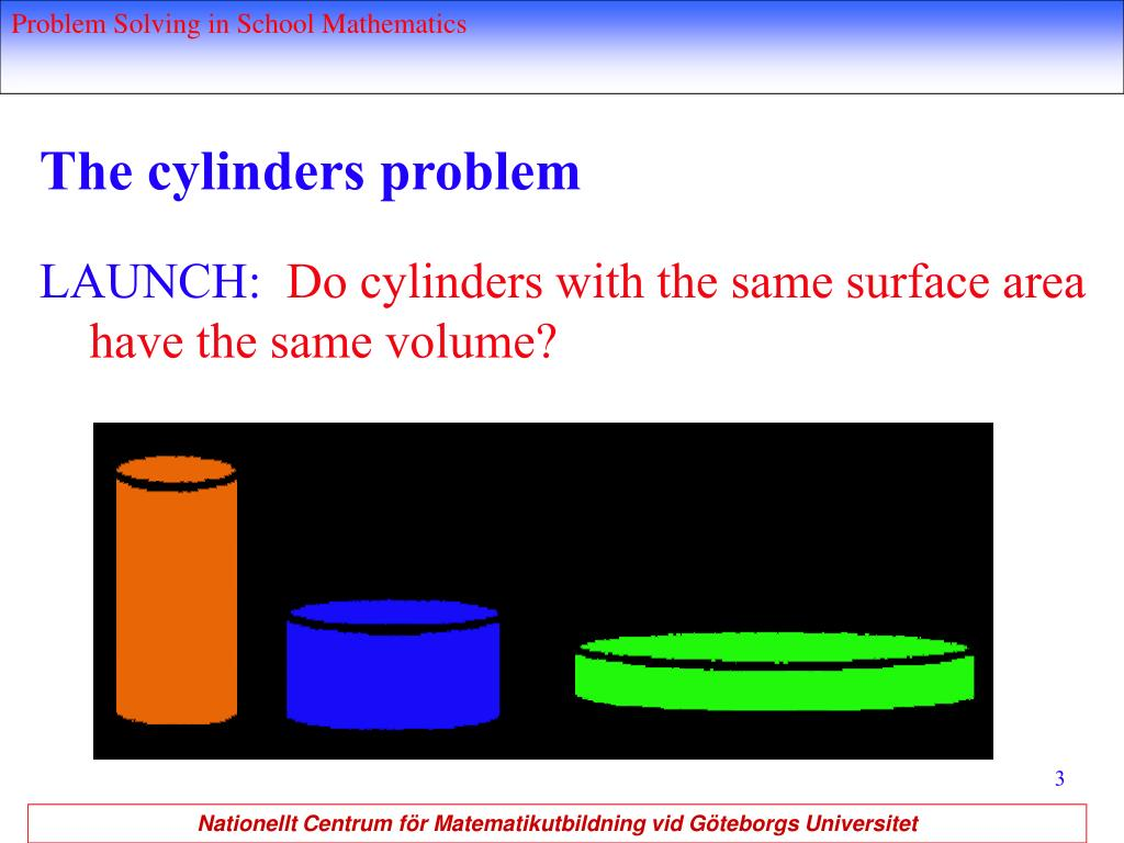 The cylinders problem