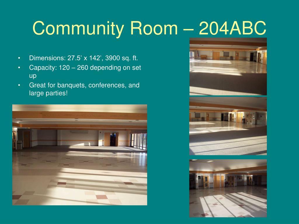 Community Room – 204ABC