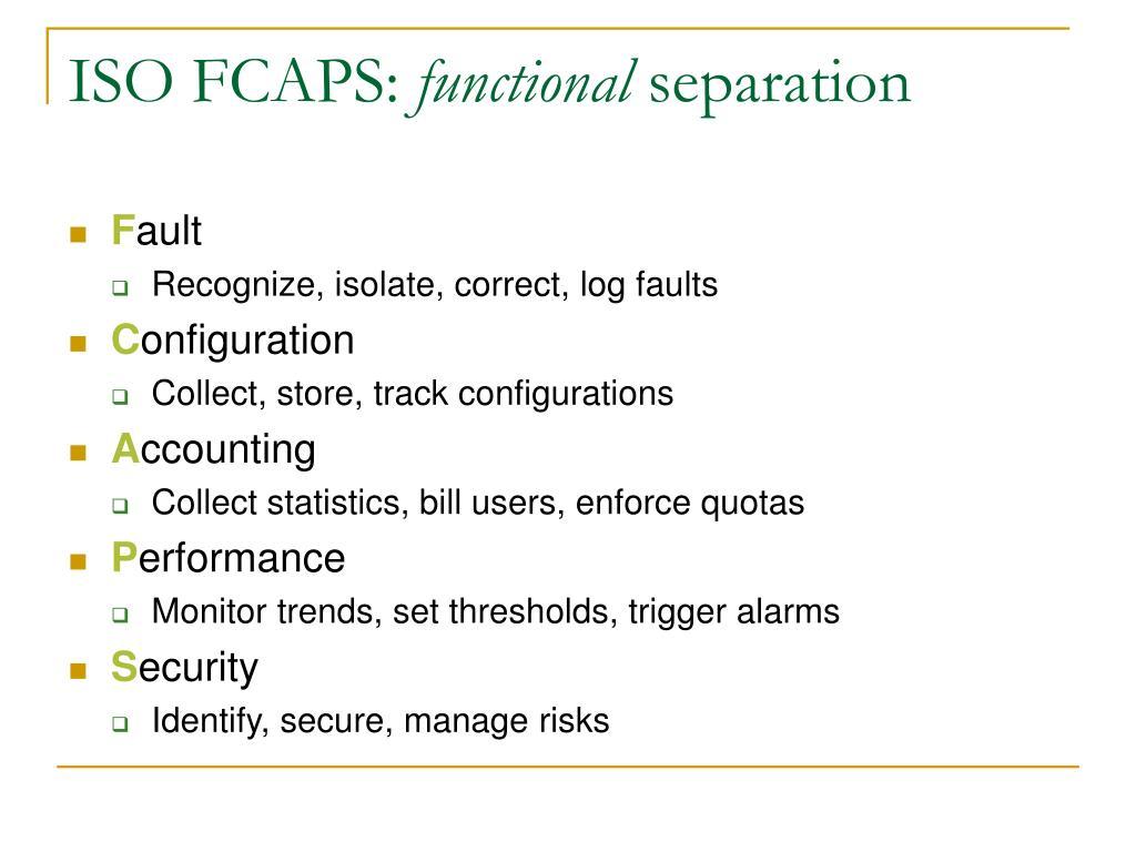 ISO FCAPS: