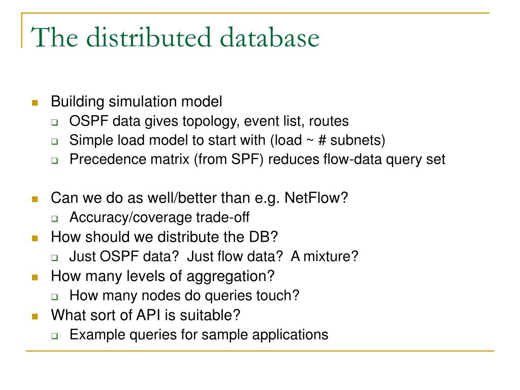 The distributed database