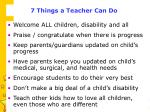 7 things a teacher can do