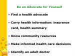 be an advocate for yourself26