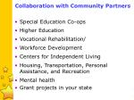 collaboration with community partners