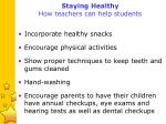 staying healthy how teachers can help students
