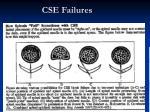 cse failures
