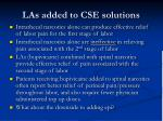 las added to cse solutions