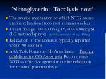 nitroglycerin tocolysis now
