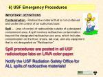 6 usf emergency procedures