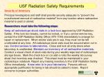 usf radiation safety requirements24
