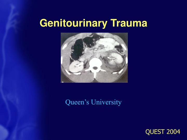 genitourinary trauma n.