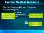 fuel for nuclear weapons