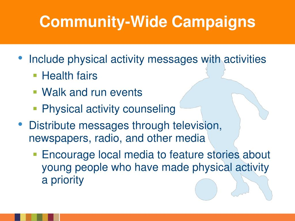 Include physical activity messages with activities