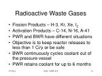 radioactive waste gases