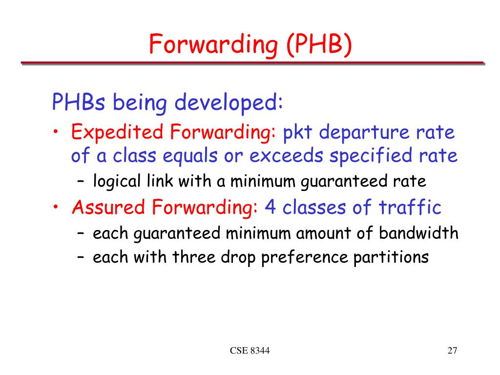 Forwarding (PHB)