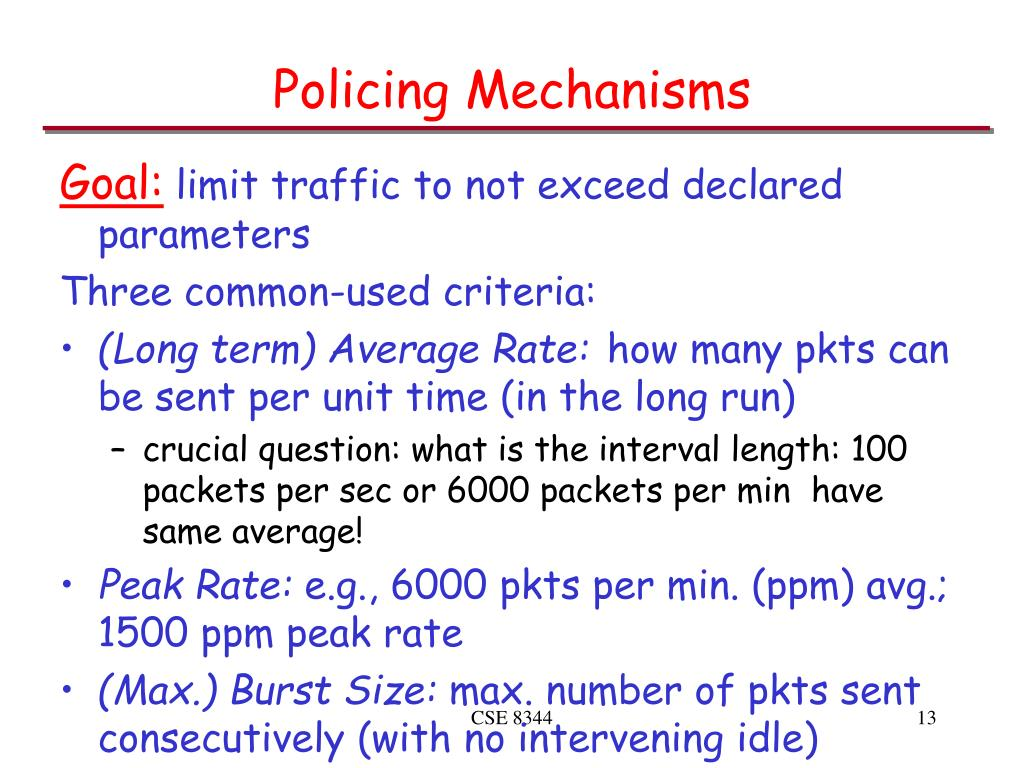 Policing Mechanisms