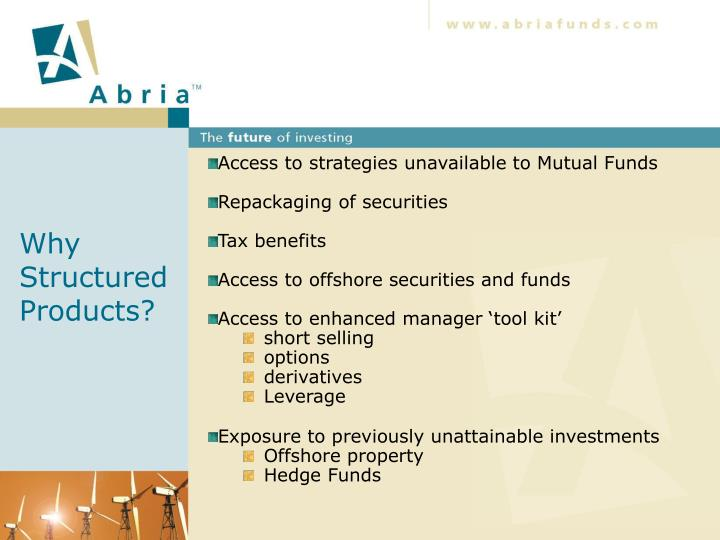 Why structured products