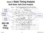 issue 3 static timing analysis multi mode multi clock analysis