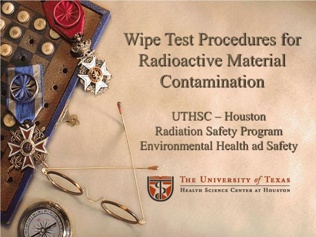 wipe test procedures for radioactive material contamination l.