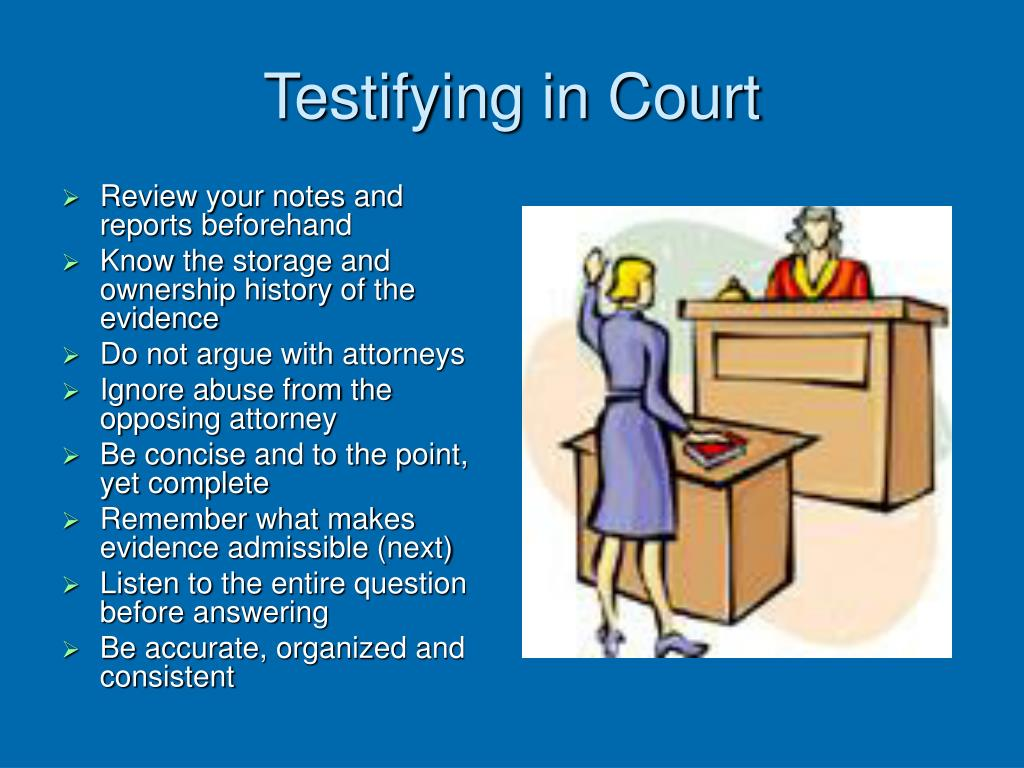 Testifying in Court