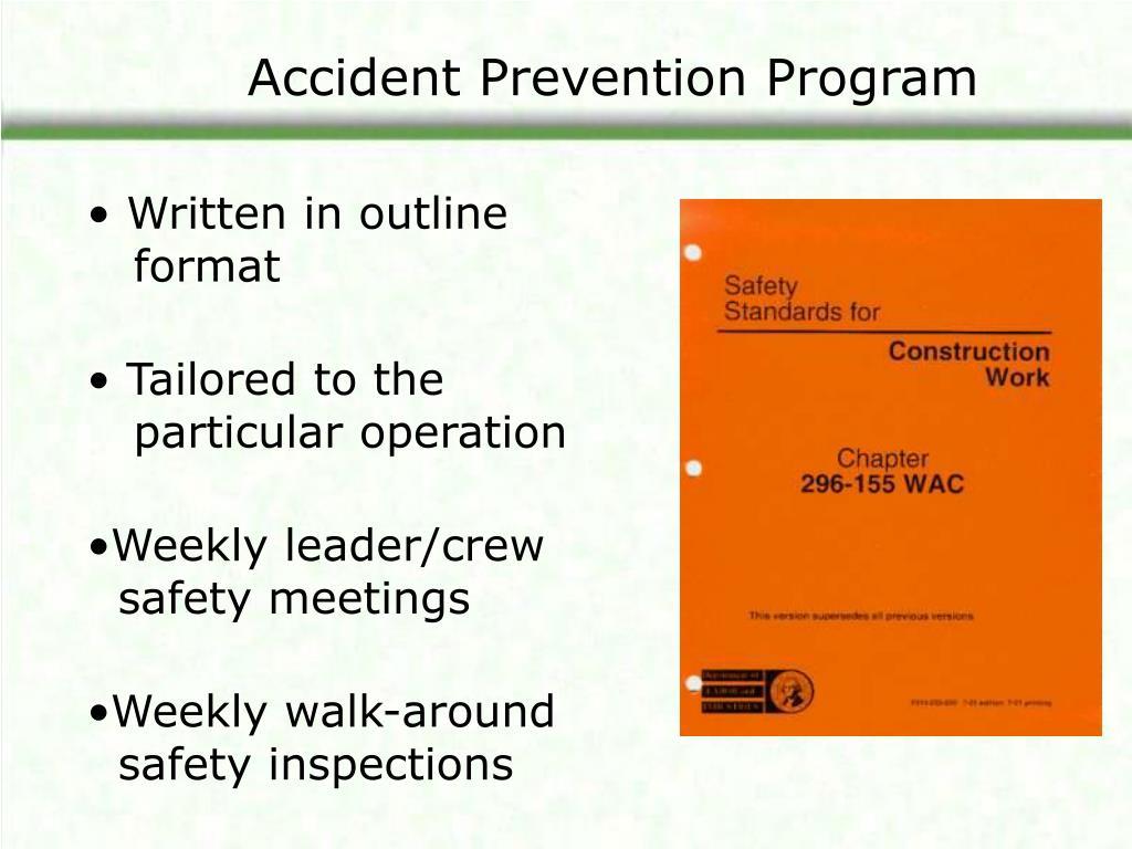 Accident Prevention Program