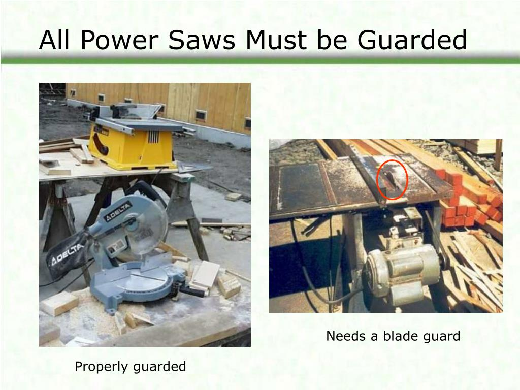 All Power Saws Must be Guarded