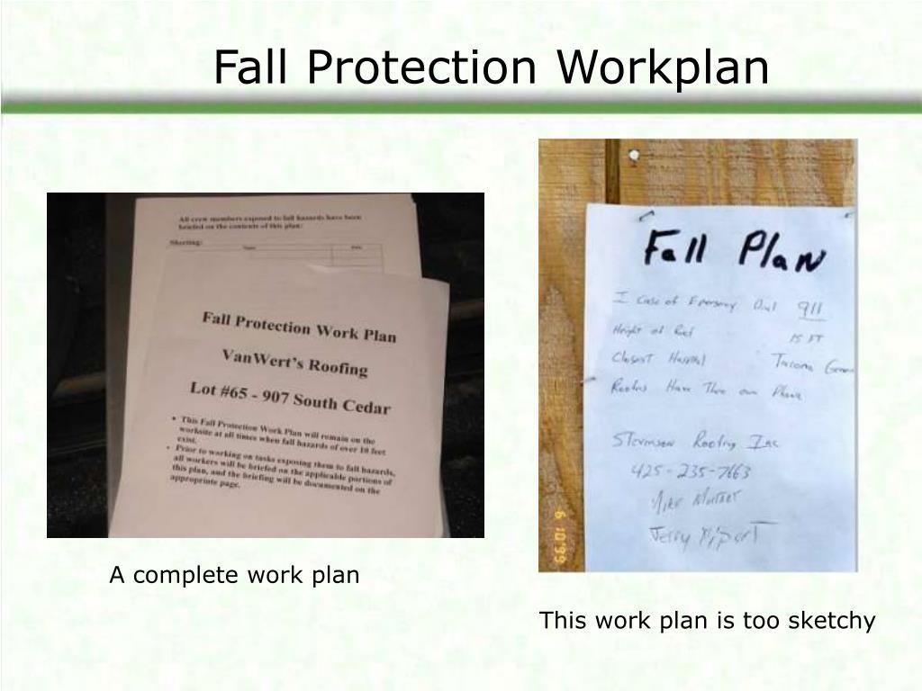 Fall Protection Workplan