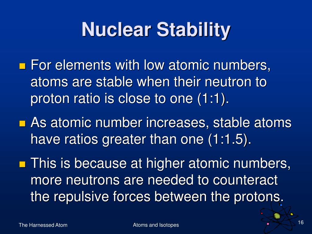 Nuclear Stability