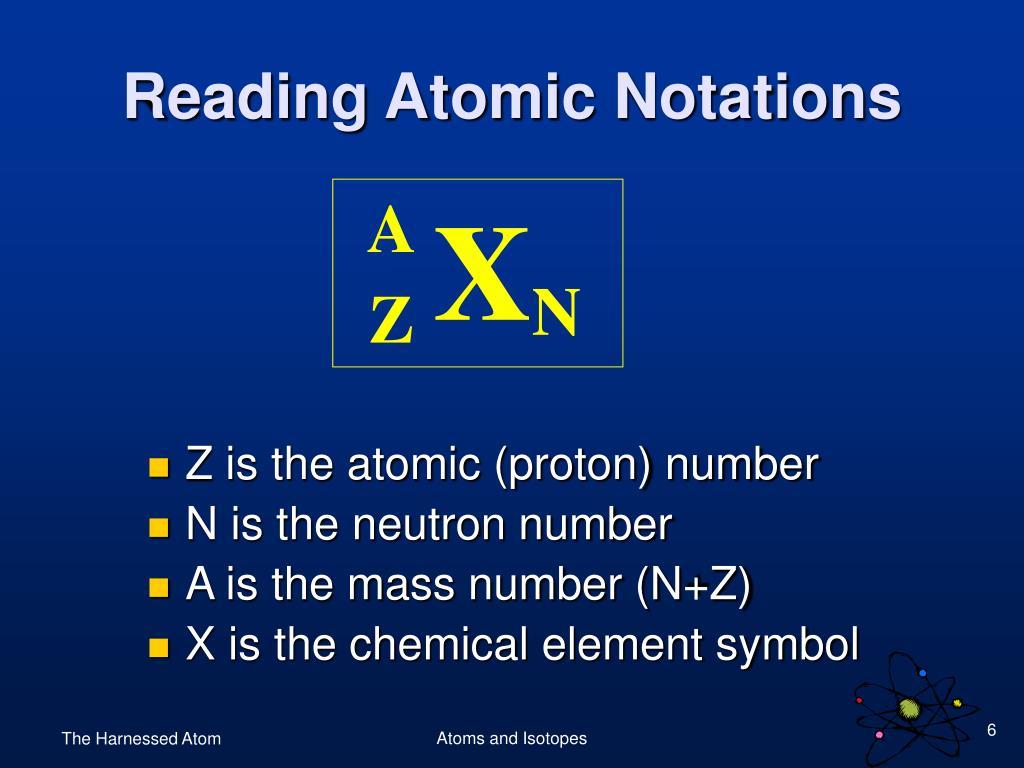 Reading Atomic Notations