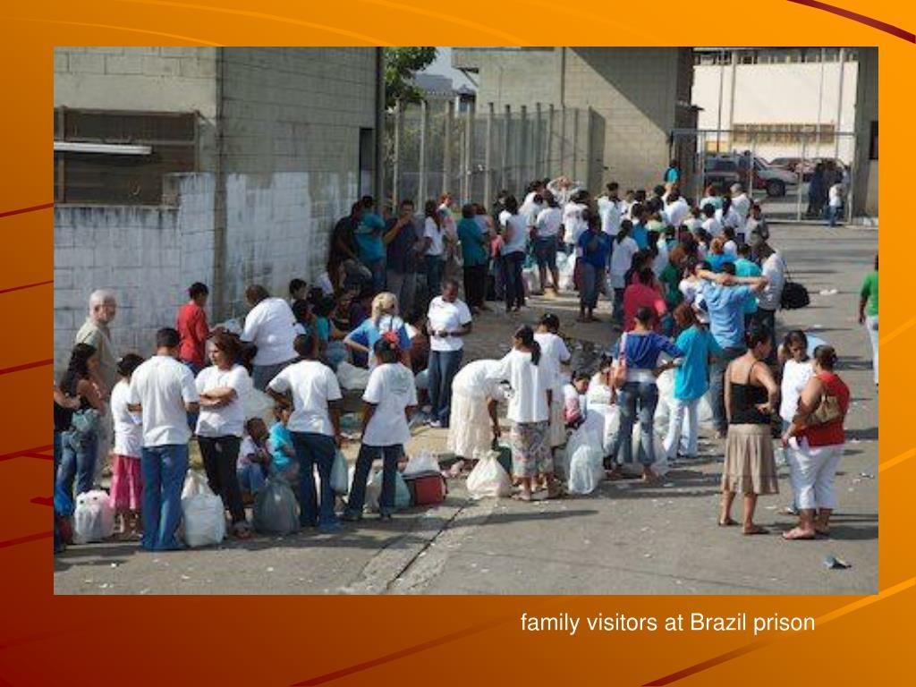 family visitors at Brazil prison