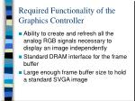required functionality of the graphics controller