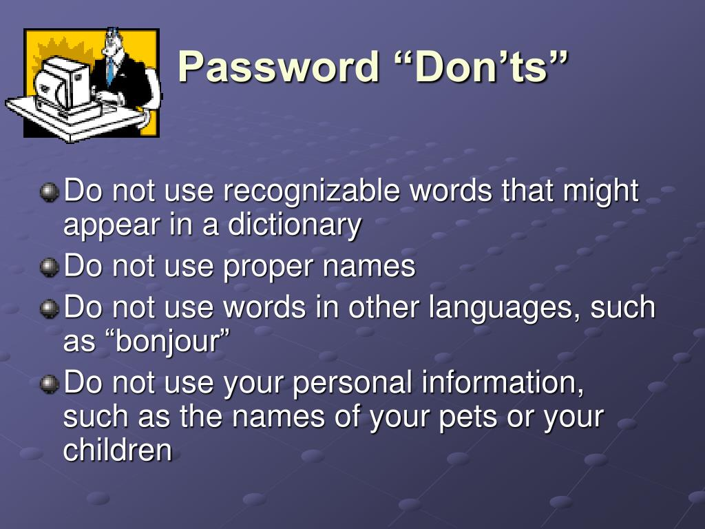 "Password ""Don'ts"""