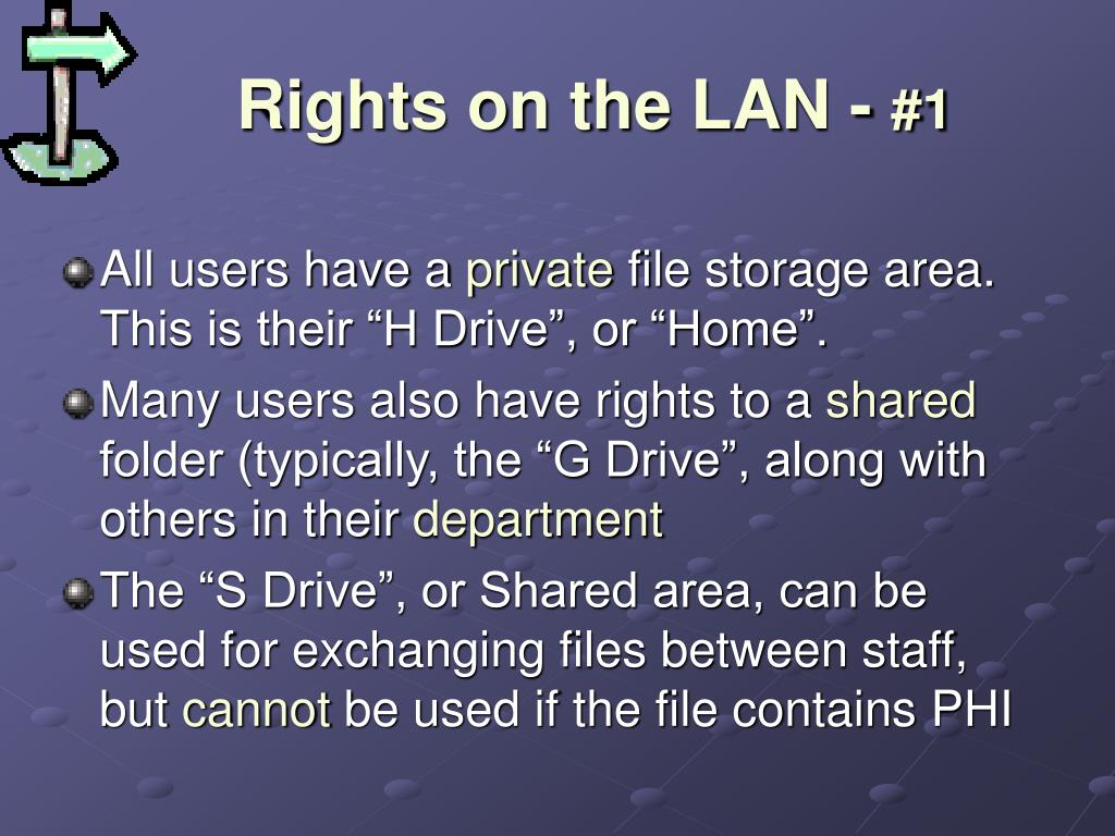 Rights on the LAN -