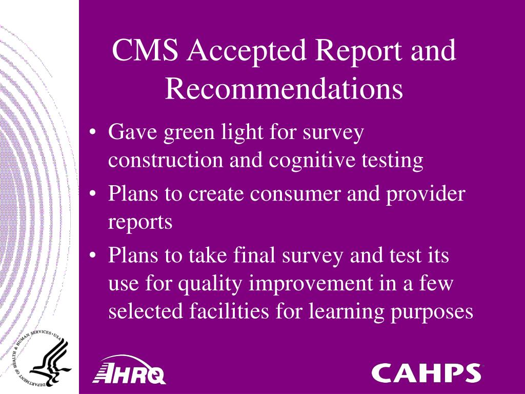 CMS Accepted Report and Recommendations