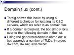 domain flux cont