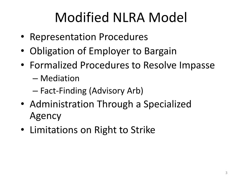 Modified NLRA Model