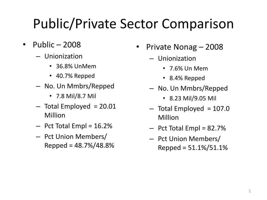 public private sector comparison l.