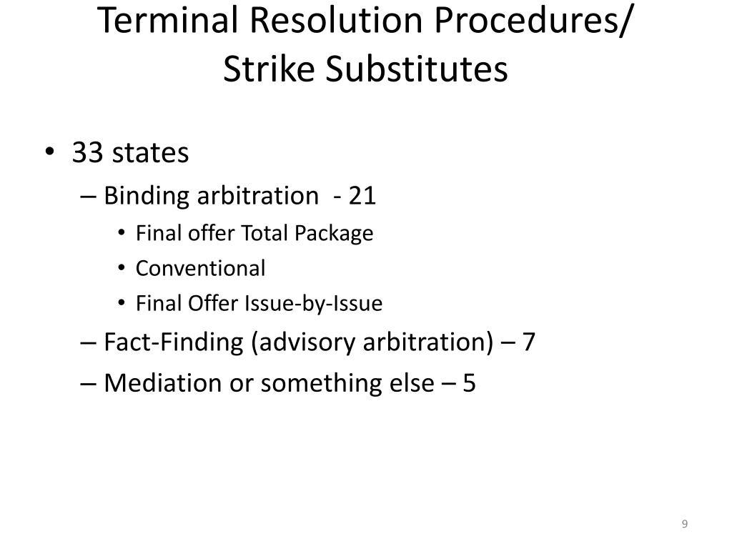 Terminal Resolution Procedures/