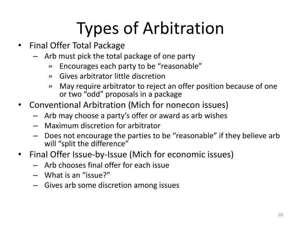 Types of Arbitration