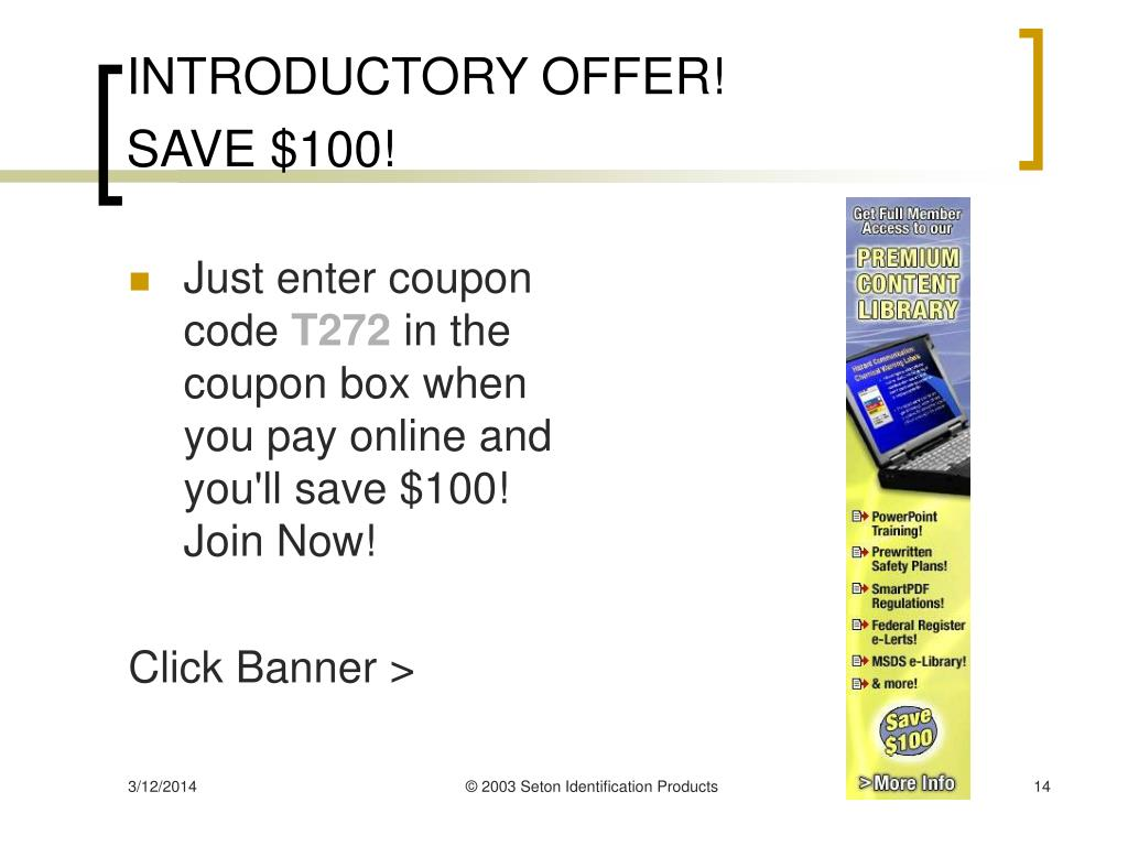 INTRODUCTORY OFFER!