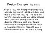 design example top p 9 notes