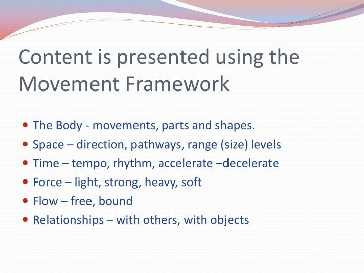 Content is presented using the movement framework