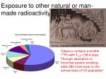 exposure to other natural or man made radioactivity