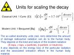 units for scaling the decay