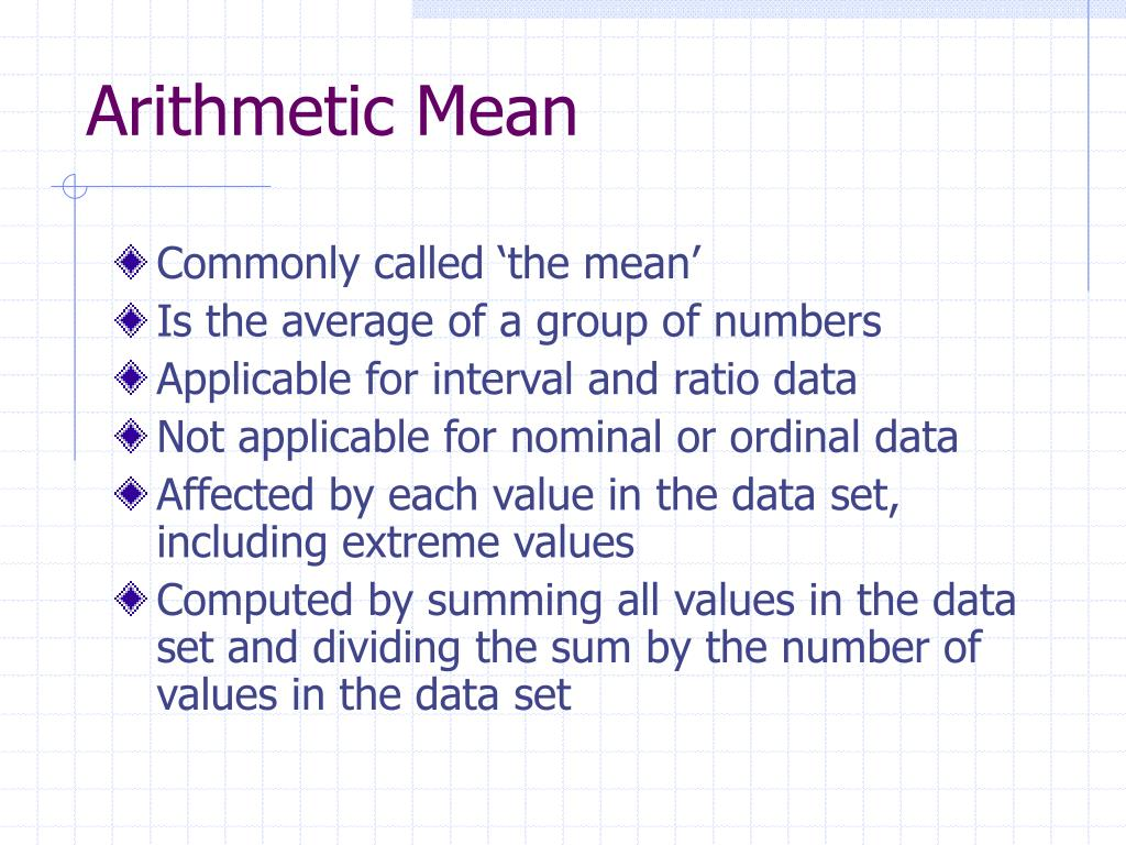 arithmetic mean and bounce plate